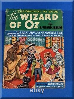 1899 1903 1939 Movie Version The Original Oz Book The Wizard Of Oz & Dust Jacket