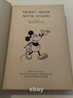 1931 Mickey Mouse Illustrated Movie Stories David Mckay Walt Disney Book