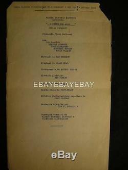 1936 Humphrey Bogart China Clipper Original Movie Script RA7
