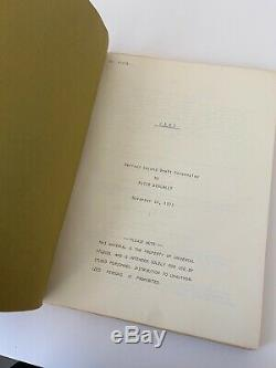 1973 Jaws Original Movie Script Universal Pictures Stephen Spielberg