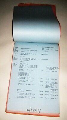 1974 Dan Curtis' TV Movie DRACULA Very Rare Original Post Production Script