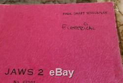 1977 JAWS 2 Roy Scheider Original PRODUCTION USED MOVIE SCRIPT From Universal