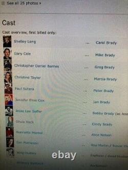 1996 VERY BRADY (BUNCH) SEQUEL Movie Script Shelly Long, Zsa Zsa Gabor