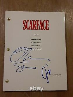 AL PACINO and OLIVER STONE AUTOGRAPHED SIGNED SCARFACE MOVIE SCRIPT WITH A COA