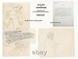 ATOM MAN vs SUPERMAN ORIGINAL 3 sheet POSTER ART, & 1st ORIGINAL SCRIPT 1950