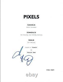 Adam Sandler Signed Autographed PIXELS Full Movie Script COA VD