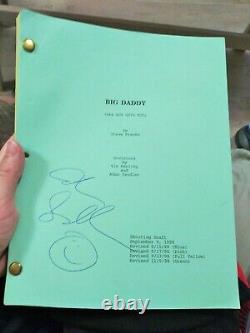 Adam Sandler large signatureRare Happy Face. Big Daddy Movie Script 1998 PSADNA
