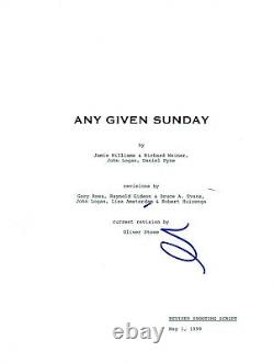 Al Pacino Signed Autographed ANY GIVEN SUNDAY Full Movie Script COA