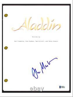Alan Menken Signed Autographed ALADDIN Full Movie Script Composer Beckett COA