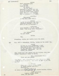 Alfred Hitchcock NOTORIOUS Original screenplay for the 1946 film with #149147