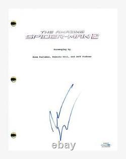 Andrew Garfield Signed Autograph The Amazing Spider-Man 2 Movie Script ACOA COA