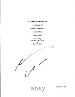 Andrew Garfield Signed Autographed THE AMAZING SPIDER-MAN Movie Script COA VD