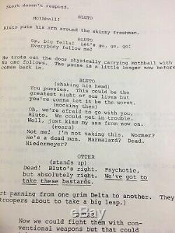 Animal House / 1977 Movie Script Screenplay, USED BY Character Mandy Original