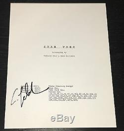 Anton Yelchin Signed Autograph Rare Star Trek Complete Movie Script With Coa