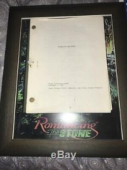 Authentic ROMANCING THE STONE Movie Prop BOOK COVERS With Original Script & COA