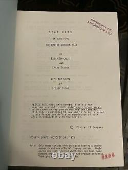 Authentic Vintage Star Wars Empire Strikes Back Movie Script Original 1978 Mint