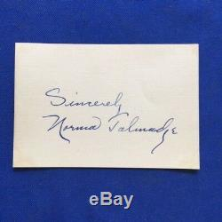 Autograph Of Silent Film Star Norma Talmadge