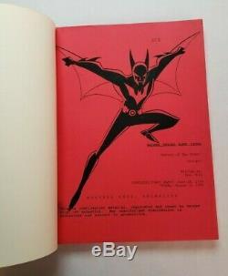 BATMAN BEYOND RETURN OF THE JOKER / Paul Dini 1999 Screenplay, Animated Film