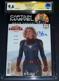 BEST AUTO! Brie Larson Signed Photo Captain Marvel Movie #2 Comic Book CGC 9.6