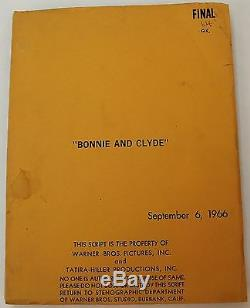 BONNIE AND CLYDE / David Newman 1966 Movie Script Screenplay, Warren Beatty