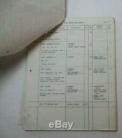 BRAVE NEW WORLD / Aldous Huxley, 1978 Shooting Schedule for the rare Sci Fi Film