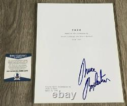 BRUCE BOXLEITNER SIGNED 1982 TRON 136 PAGE MOVIE SCRIPT withPROOF BECKETT BAS COA