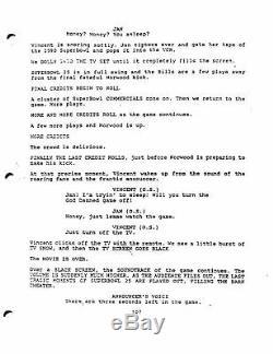 BUFFALO'66 very rare MOVIE early draft screenplay by VINCENT GALLO