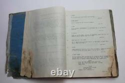 BUTCH CASSIDY AND THE SUNDANCE KID / 1968 Movie Script Screenplay WATER STAINED
