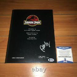 B. D. WONG SIGNED JURASSIC PARK FULL 144 PAGE MOVIE SCRIPT with BECKETT BAS COA