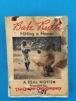 Babe Ruth 1934 Hitting A Homer Baseball Moviescope Quaker Flip Movie Book