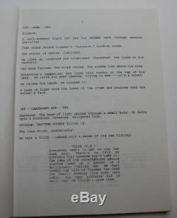 Basquiat / Julian Schnabel 1993 Movie Script Screenplay, New York street artist