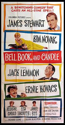 Bell Book And Candle James Stewart Kim Novak 1958 3-sheet Movie Poster