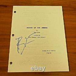 Brendan Fraser Signed George of The Jungle Movie Script