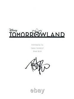 Britt Robertson Signed Autographed TOMORROWLAND Movie Script Transcript COA