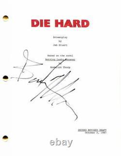 Bruce Willis Signed Autograph Die Hard Movie Script Alan Rickman, Pulp Fiction