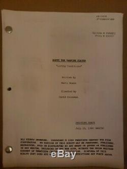 Buffy the Vampire Slayer Film Cells prop from set of Season 1 & Original Script