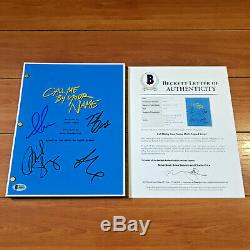 CALL ME BY YOUR NAME SIGNED MOVIE SCRIPT BY 4 CAST with BECKETT TIMOTHEE CHALAMET
