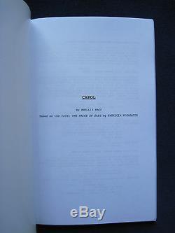 CAROL FILM SCRIPT CATE BLANCHETT ROONEY MARA From Patricia Highsmith Novel