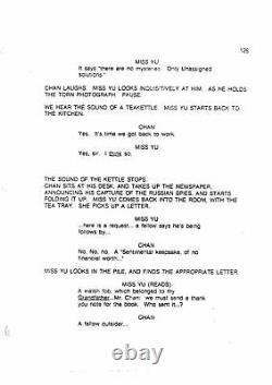 CHARLIE CHAN IN HORSE AND RIDER rare UNPRODUCED MOVIE screenplay by DAVID MAMET
