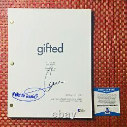 CHRIS EVANS & MCKENNA GRACE SIGNED GIFTED FULL MOVIE SCRIPT with BECKETT BAS COA