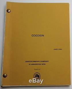 COCOON / Tom Benedek 1984 Movie Script Screenplay, Ron Howard Alien Sci Fi Film