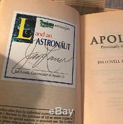 COMMANDER JIM LOVELL signed Apollo 13 book auto AUTOGRAPH Hanks movie NASA