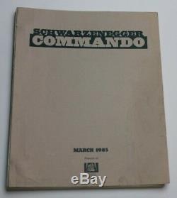 COMMANDO / Steven E. De Souza 1985 Movie Script Screenplay Arnold Schwarzenegger