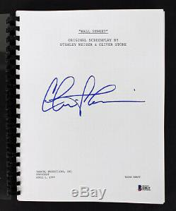 Charlie Sheen Authentic Signed Wall Street Movie Script BAS Witnessed