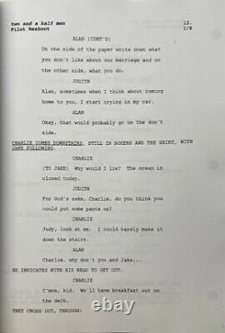 Charlie Sheen Signed Two and a half Men Movie Script PSA AH99283