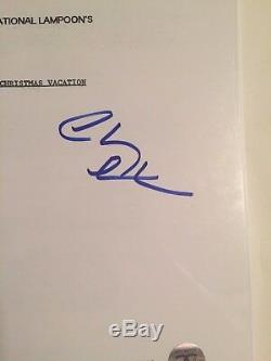 Chevy Chase Autographed National Lampoon's Movie Script Beckett COA