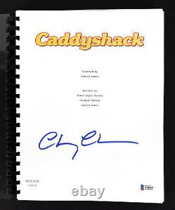 Chevy Chase Caddyshack Authentic Signed Movie Script Autographed BAS Witnessed