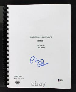 Chevy Chase Signed National Lampoon's Vacation Movie Script BAS Witnessed I49287