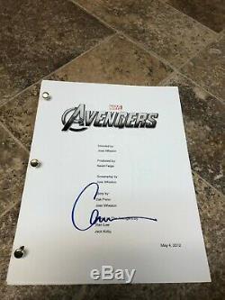 Chris Evans Avengers Steve Rogrs Signed Autographed Full Movie Script Marvel