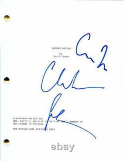 Christian Bale & Christopher Nolan Signed Autograph Batman Begins Movie Script